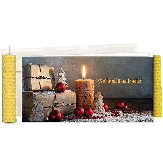 weihnachtsw nsche mit bienenwachskerze top themen. Black Bedroom Furniture Sets. Home Design Ideas