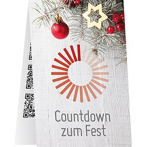 Adventskalender Rubbel-Karte